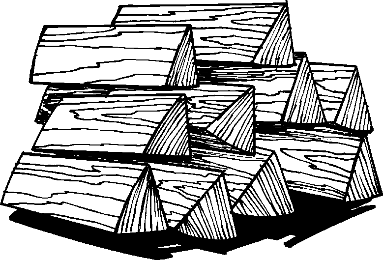 Wood pile clipart black and white.