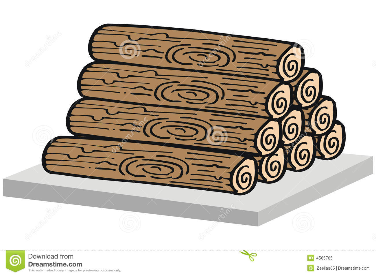 Timber Logs Clip Art ~ Pile of wood clipart clipground