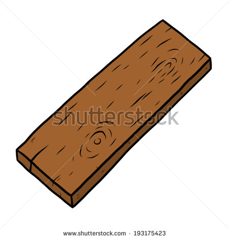 Wooden plank clipart.