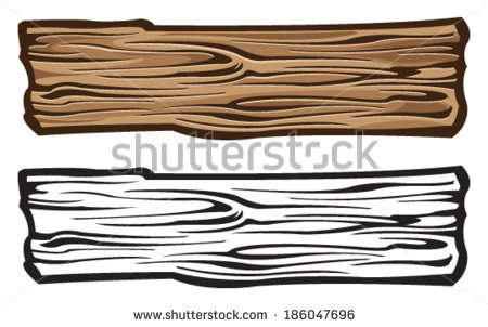 Wood Plank Illustration.