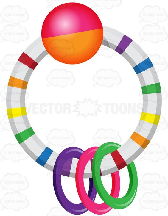 Ring In Ring Colored Rattle.