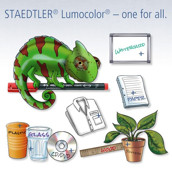One pen for so many surfaces: the STAEDTLER Lumocolor is a surface.