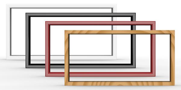Plastic/Wood frames, Vector.