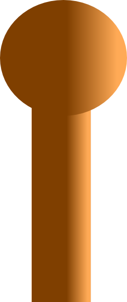 Wood Sign Poles Clipart.