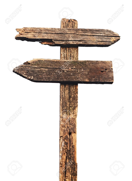 Wood Sign Post Clipart.