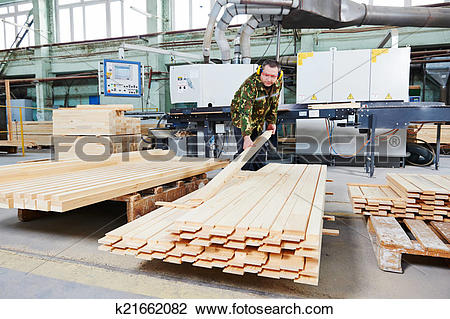 Stock Photo of wood processing manufacture k21662082.