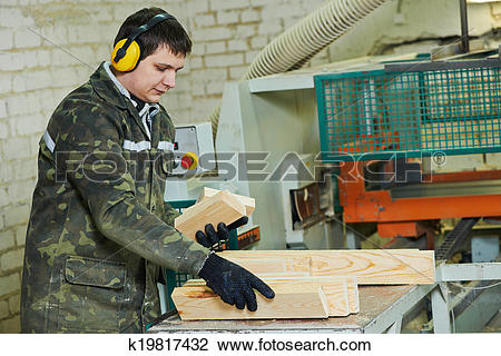 Stock Photo of wood processing manufacture k19817432.