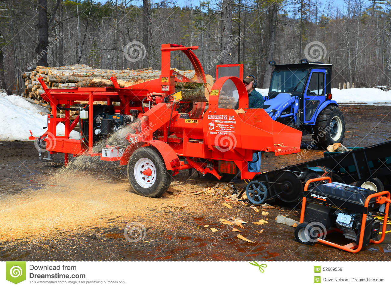 Firewood Processing Equipment Editorial Stock Image.