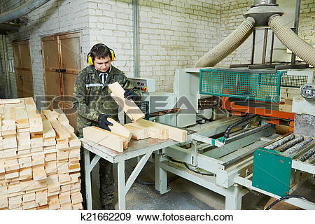 Stock Photograph of wood processing manufacture k21662209.
