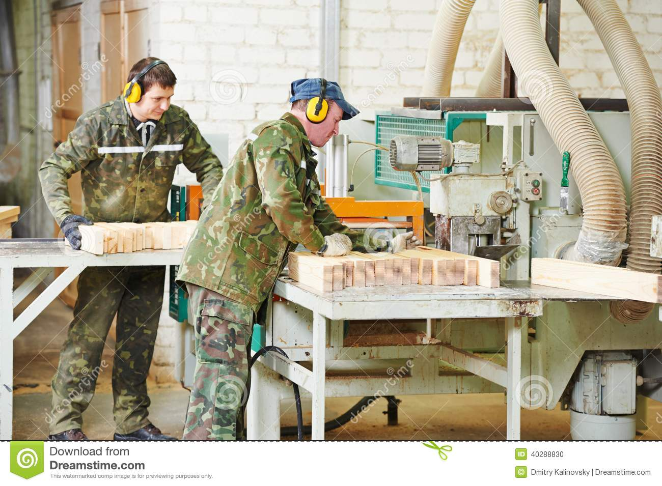 Wood Processing Manufacture Stock Photo.