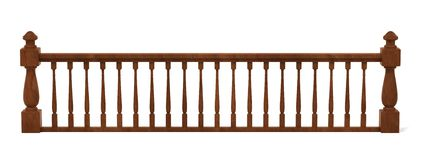 Wooden Railings Stock Illustrations.