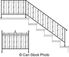 Stair rail Illustrations and Clipart. 390 Stair rail royalty free.