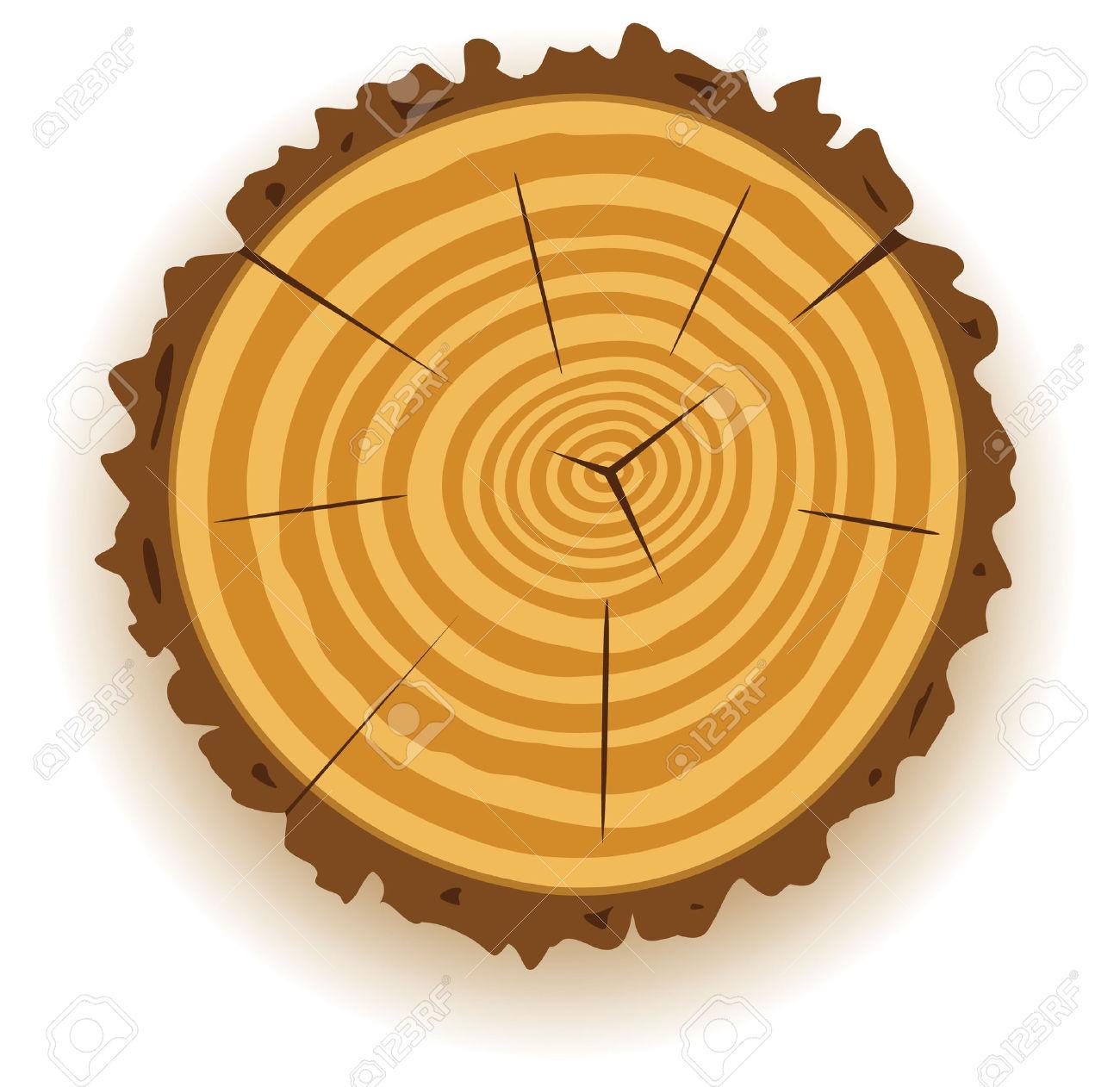 Vector Wooden Cut Clip.