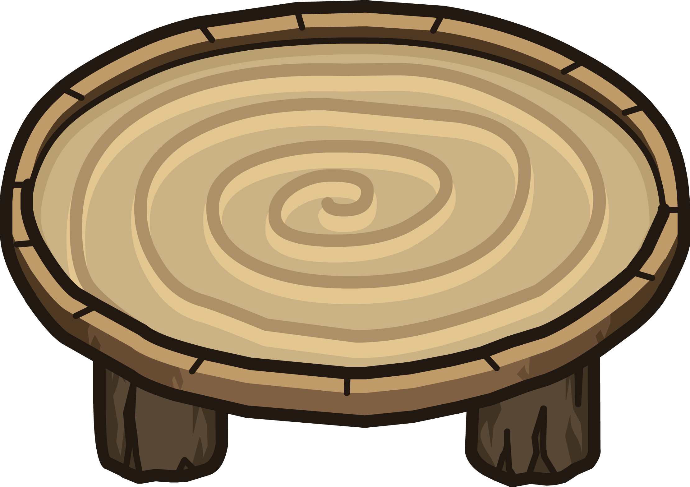 Wood Ring Table.