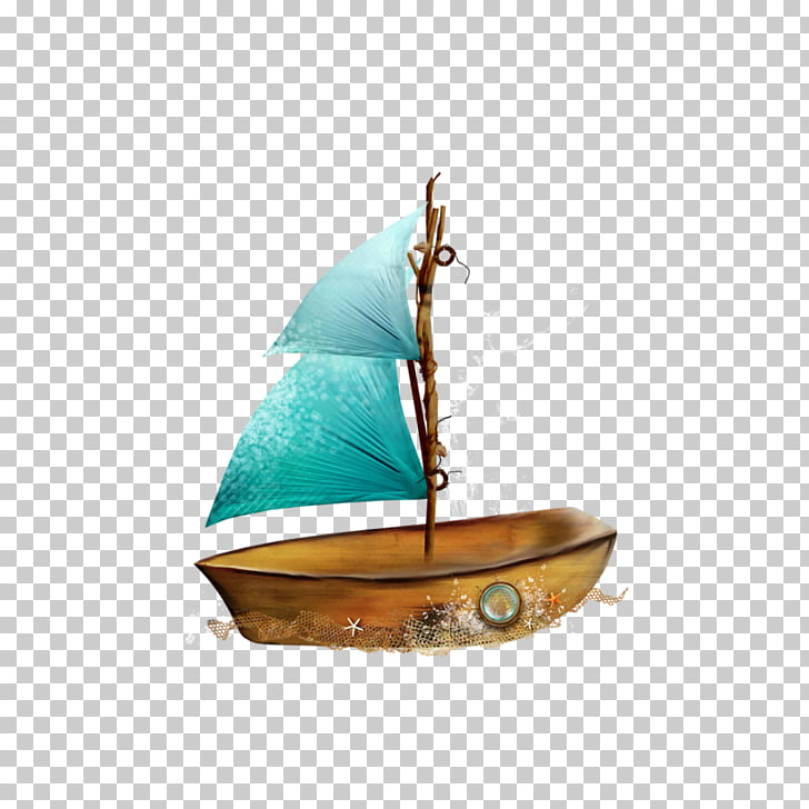 Boat , Wooden sailboat PNG clipart.