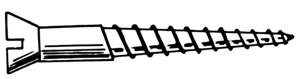 wood screw.