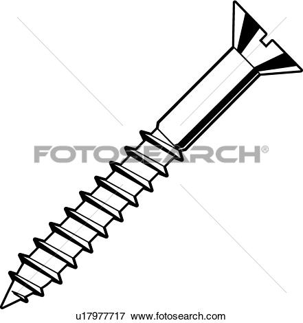 Wood screw Clipart and Illustration. 1,743 wood screw clip art.
