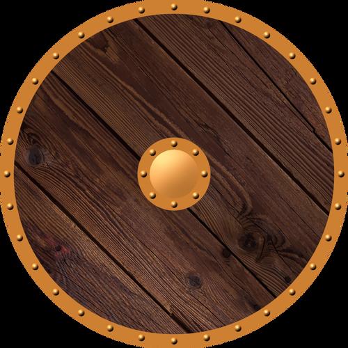 Wooden shield.