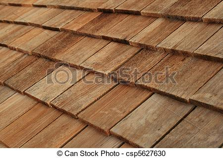 Stock Photography of wood roof shingles.