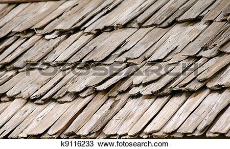 Stock Photo of wood roof k9116233.