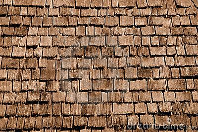 Wood Shingle Background Stock Photo.