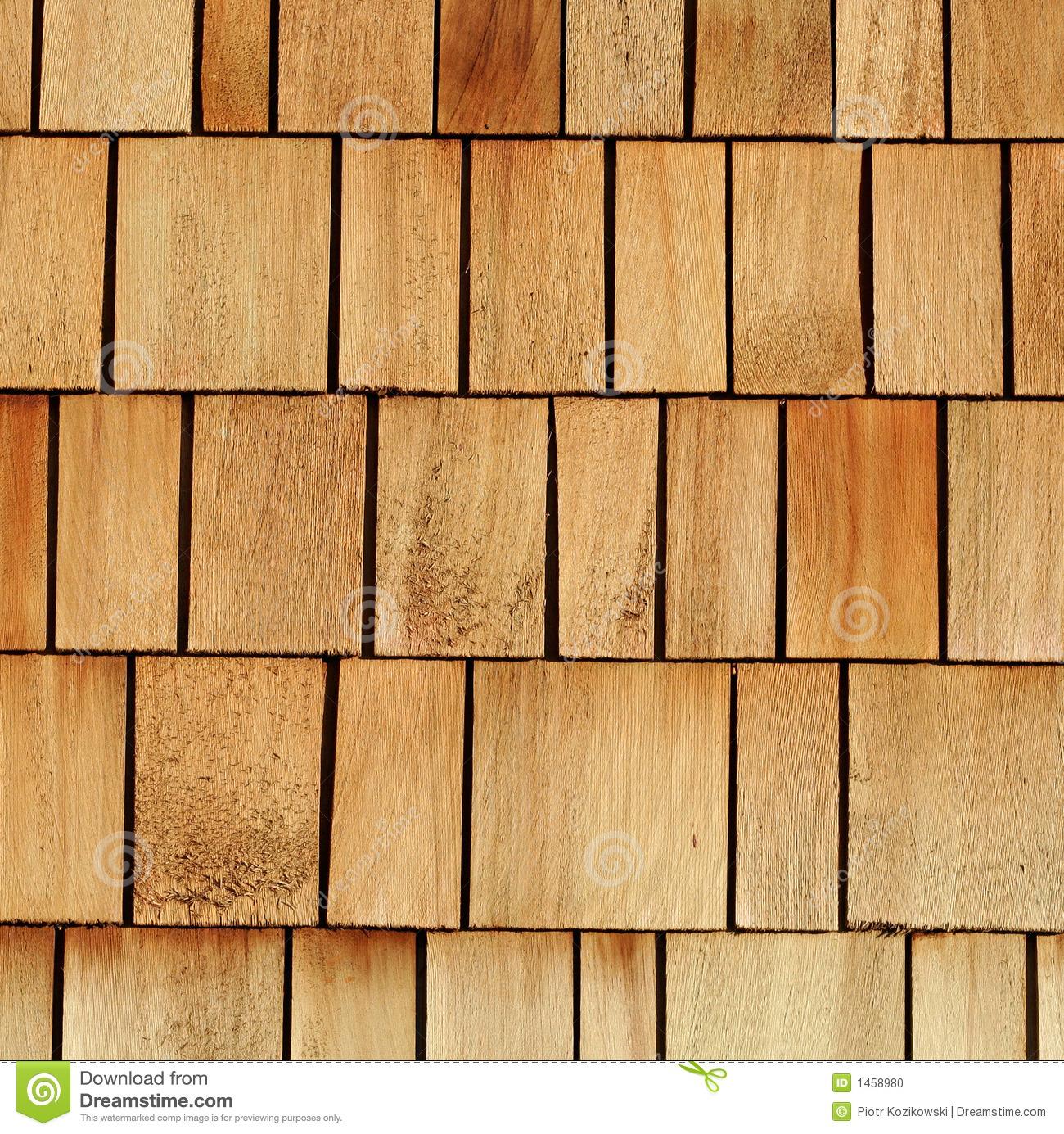 Wooden Shingles Stock Photo.
