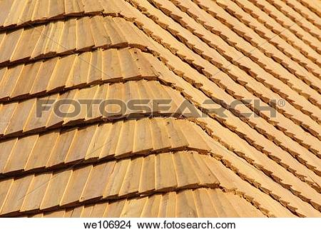 Stock Photo of abstract background from the wood shingle roof.