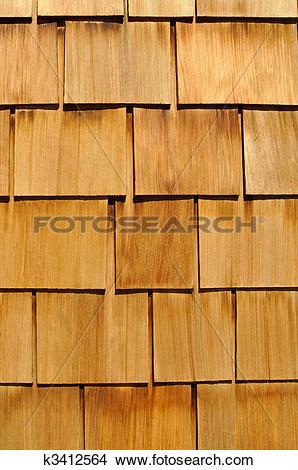 Stock Photo of Wood Shingle Background k3412564.