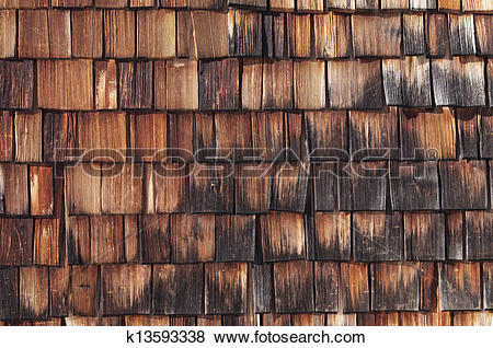 Pictures of Wood shingle k13593338.