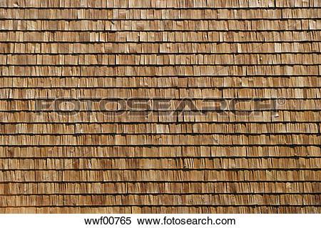 Stock Image of Wooden shingle facade, full frame wwf00765.