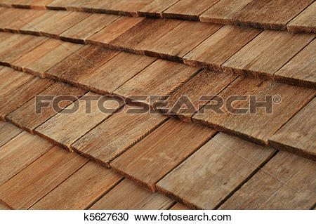 Stock Photography of wood roof shingles k5627630.