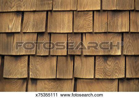 Stock Photography of Wood shingles x75355111.