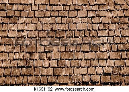 Stock Photo of Wood Shingles Background k1631192.