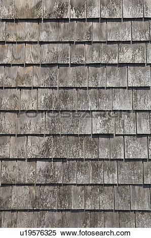 Stock Image of Closeup of wood shingles u19576325.