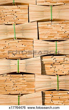 Stock Images of Stack of cedar wood shingles, full frame x17764476.