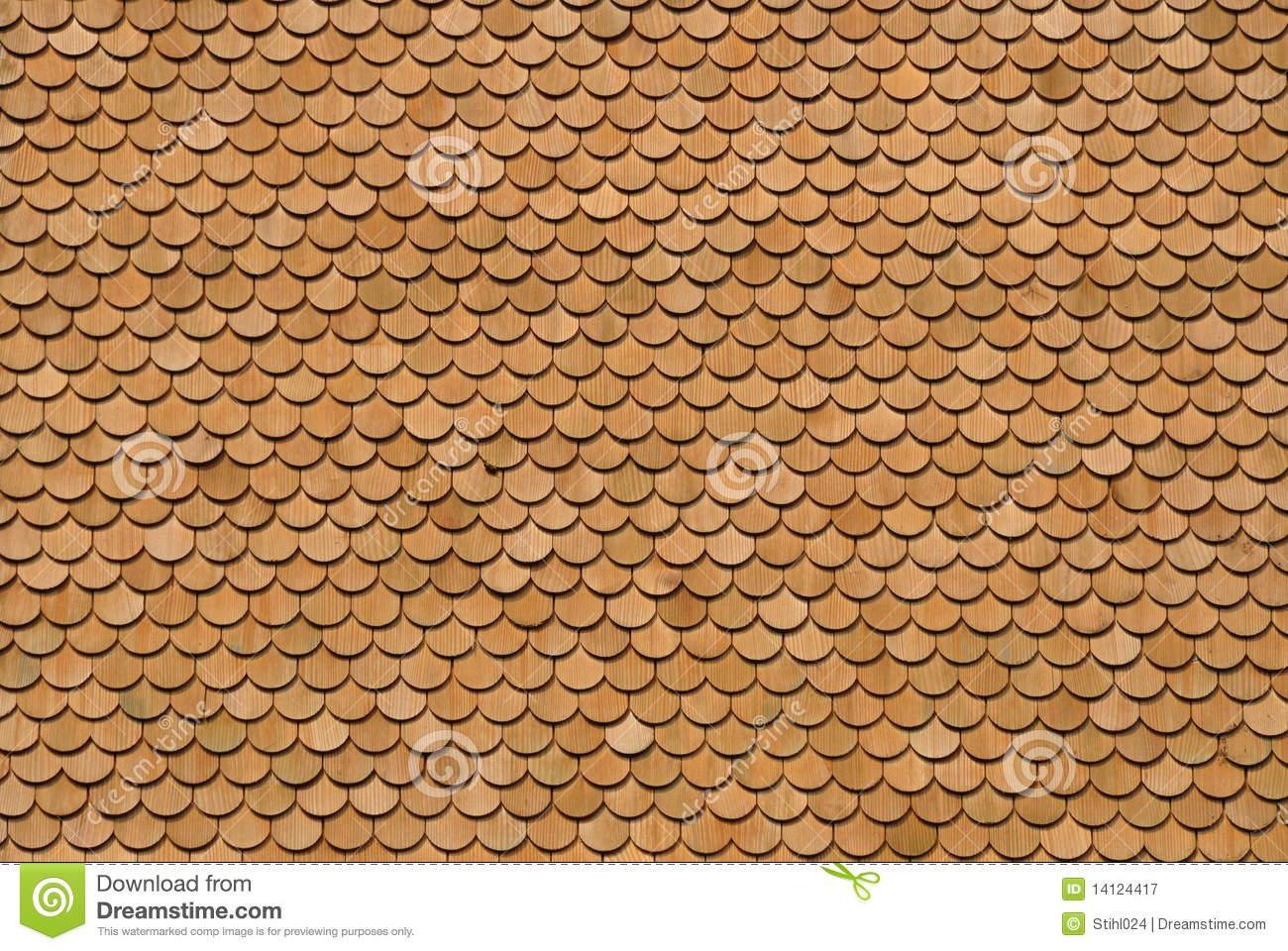 Wood Shingles Royalty Free Stock Photography.