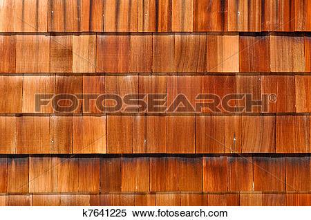 Stock Image of Wood Shingles k7641225.