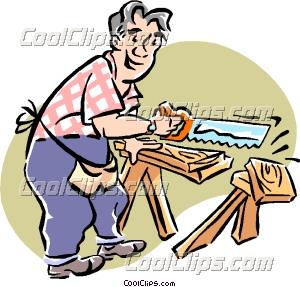Woodworking Shop Tools Clip Art.