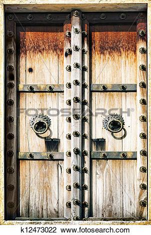 Clip Art of Old wooden shutters k12473022.