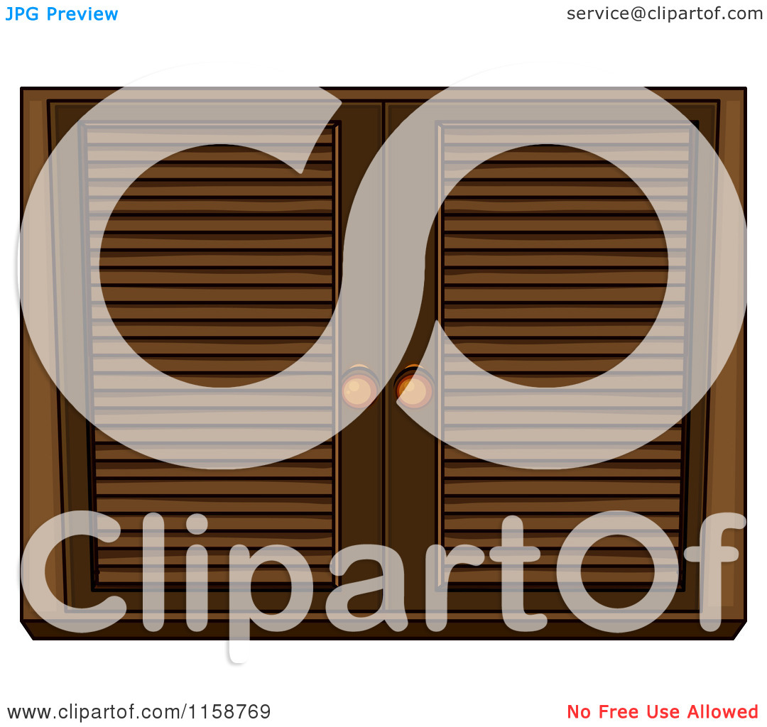 Clipart of Wooden Shutters.