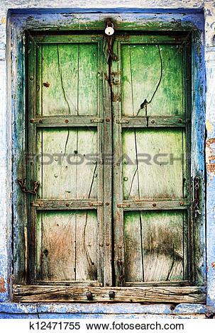 Stock Illustration of Old wooden shutters k12471755.