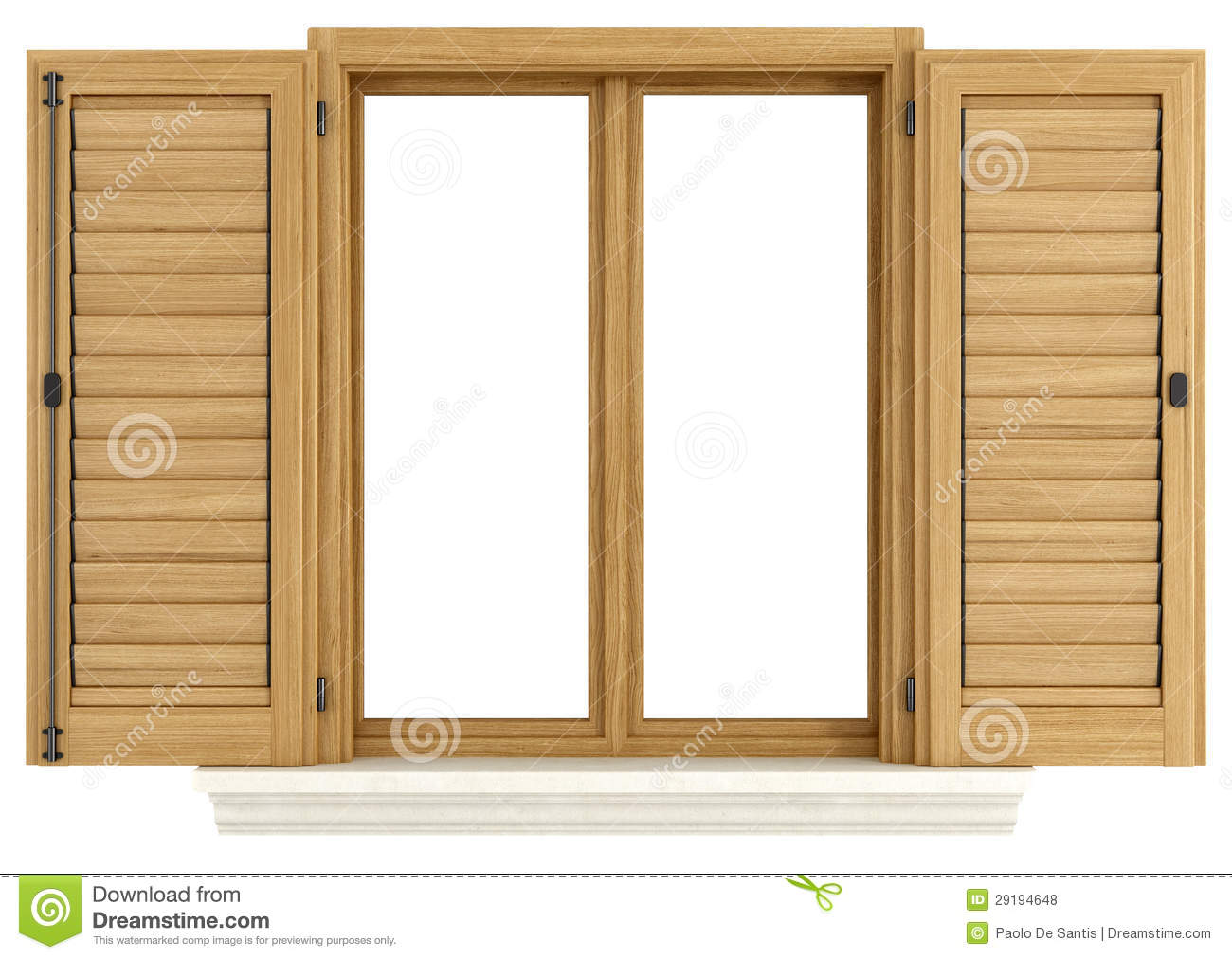 Wooden Window With Open Shutter Royalty Free Stock Photos Image.