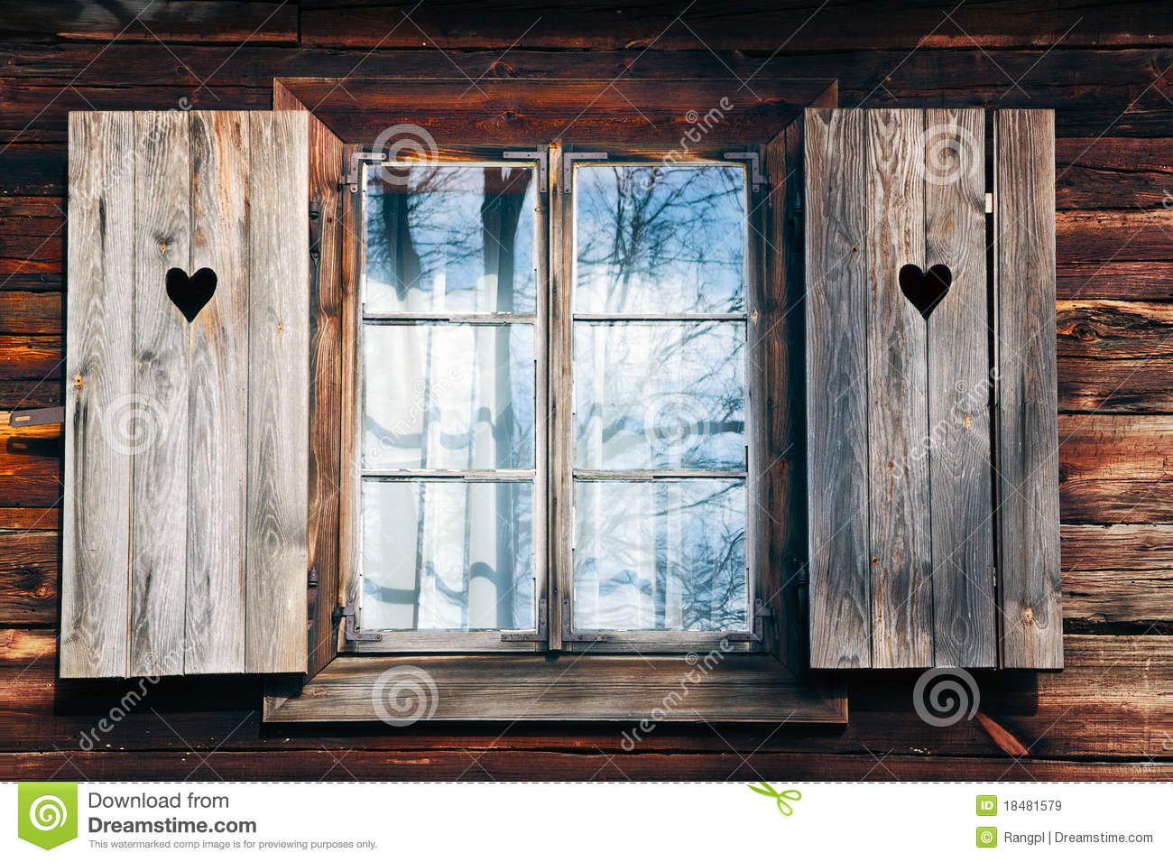 Wood Wall With Window Clipart.