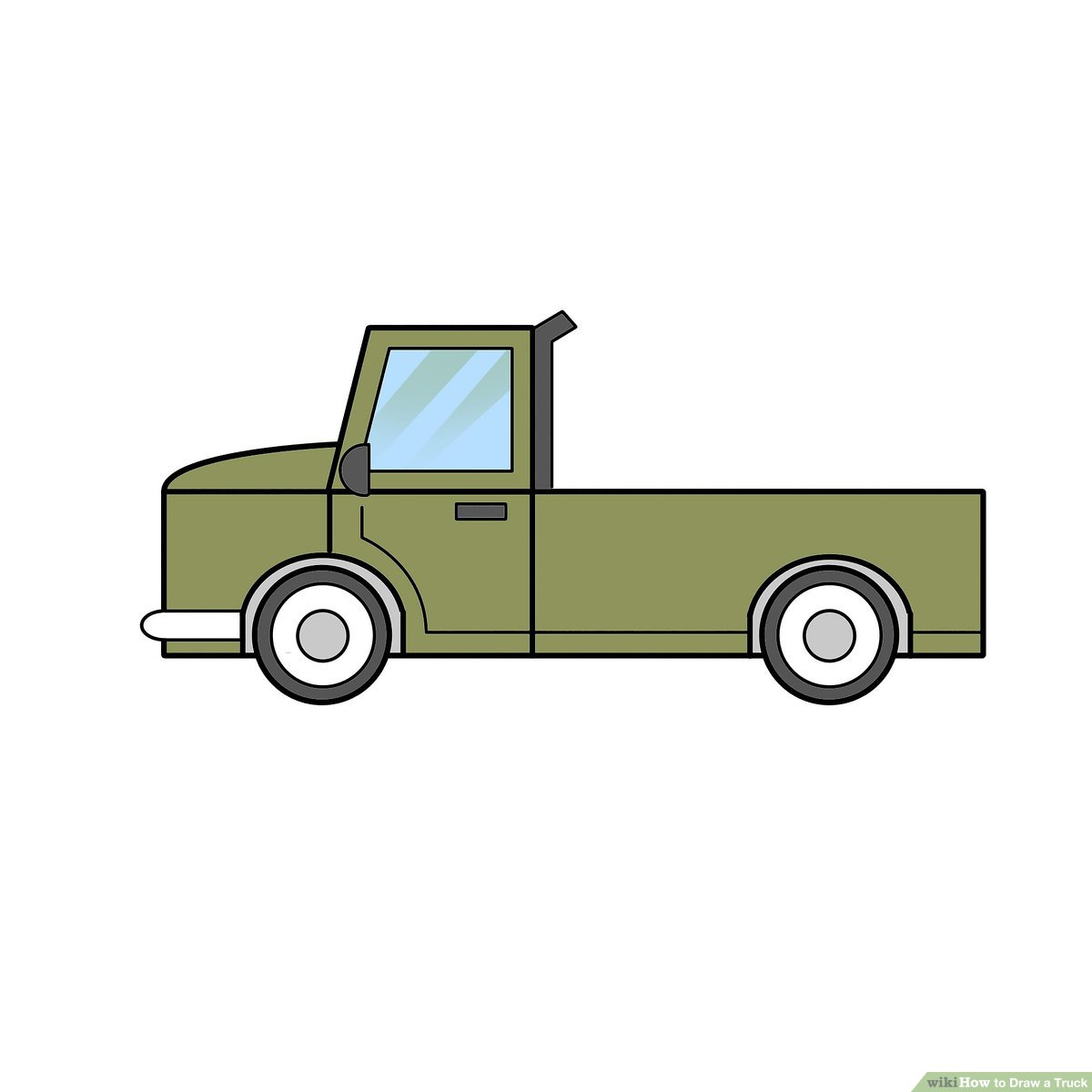 2 Easy Ways to Draw a Truck (with Pictures).