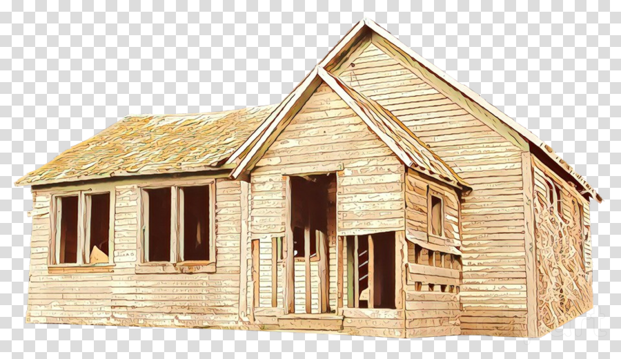 house home log cabin property roof clipart.