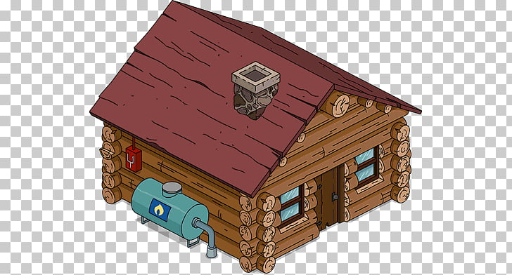 Log cabin House Hut Shed Wood, house PNG clipart.