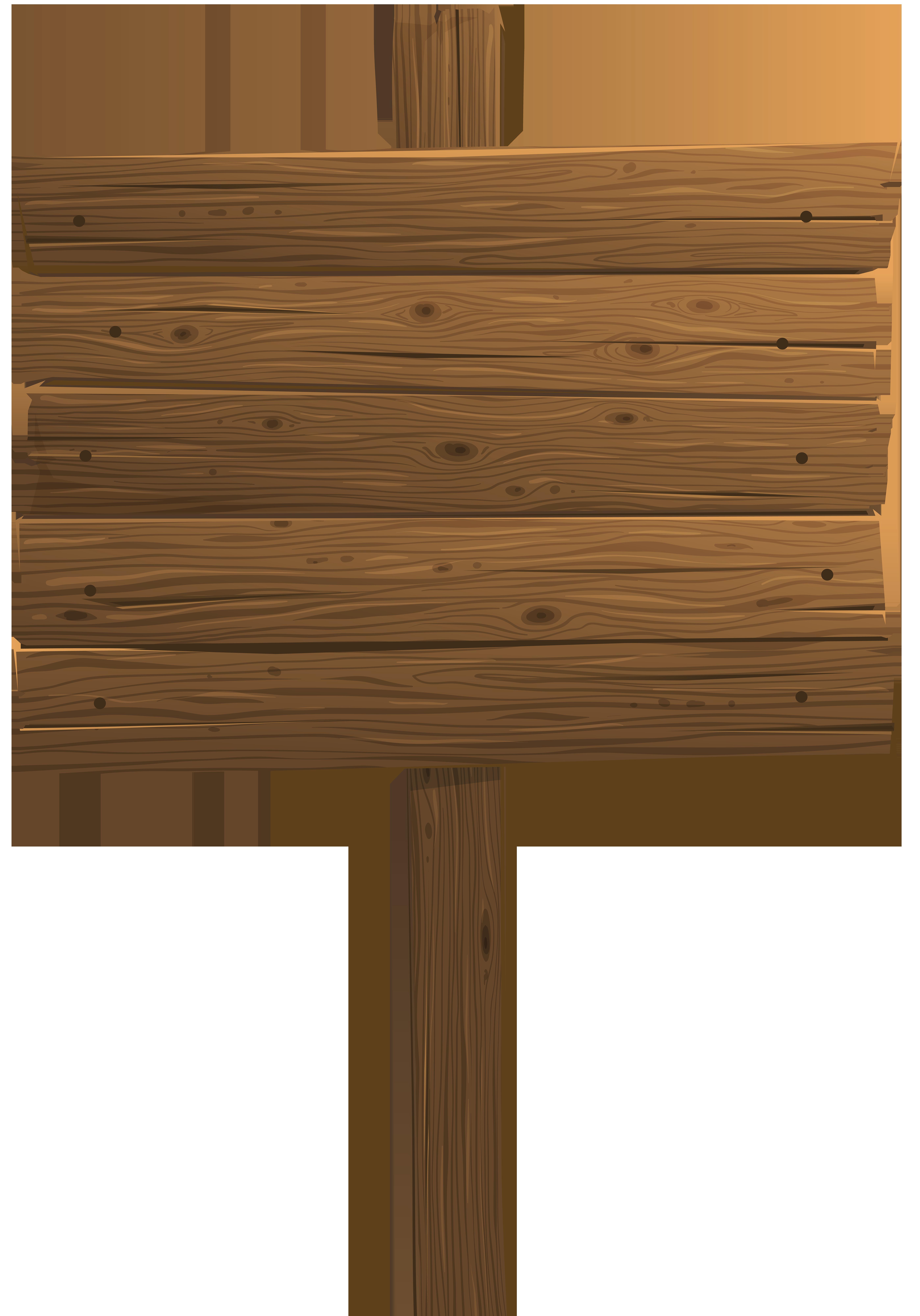 Wooden Sign PNG Clip Art Transparent Image.
