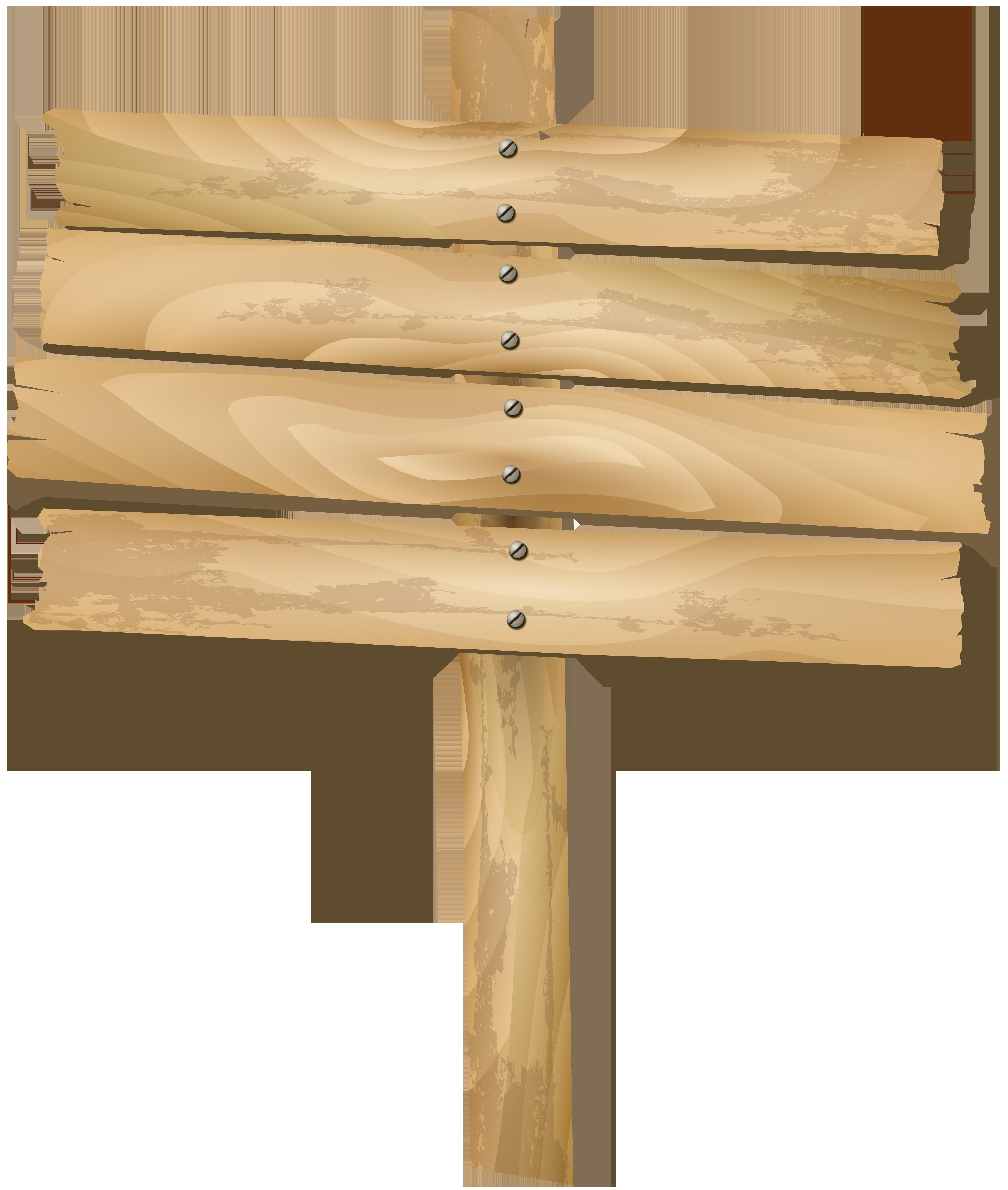 Wooden Sign Transparent Clip Art PNG Image.