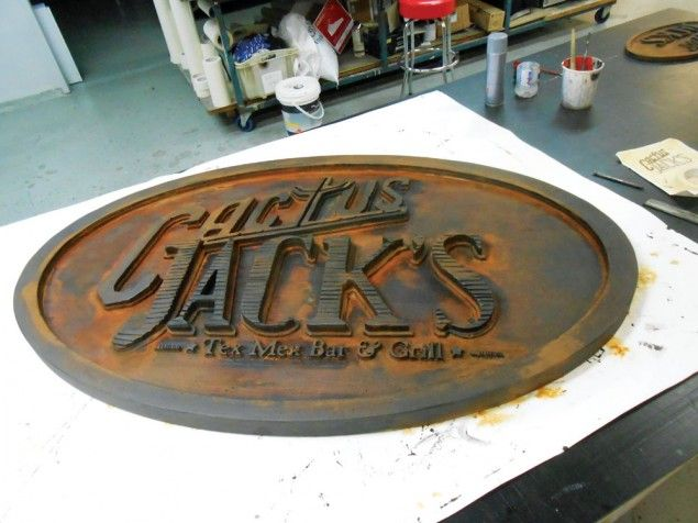 A gallery of CNC sign ideas #cnc #signage.