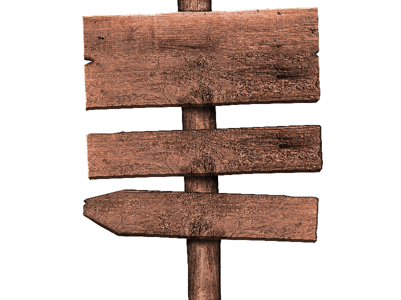 Free Rustic Wood Sign PNG (Isolated.